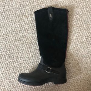 Croc Suede Riding Boot